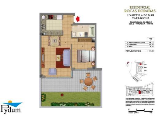Apartamento 2 Habitaciones › L'Ametlla de Mar