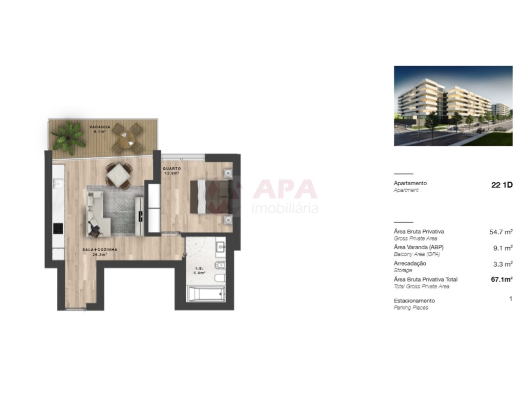 2 Pièces Appartement in Faro (Sé e São Pedro) (23)