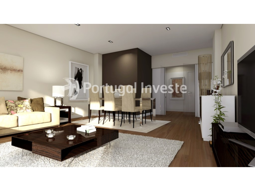 Living room - For sale 3 bedrooms apartment, new, box, Liberty Atrium Residence, 10 minutes from Lisbon downtown - Portugal Investe