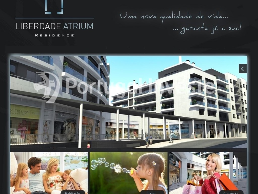Enterprise advertisement - For sale 2 bedrooms apartment, new, box, Liberty Atrium Residence, 10 minutes from Lisbon downtown - Portugal Investe