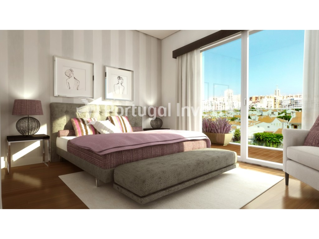 Suite - For sale 3 bedrooms apartment, new, box, Liberty Atrium Residence, 10 minutes from Lisbon downtown - Portugal Investe
