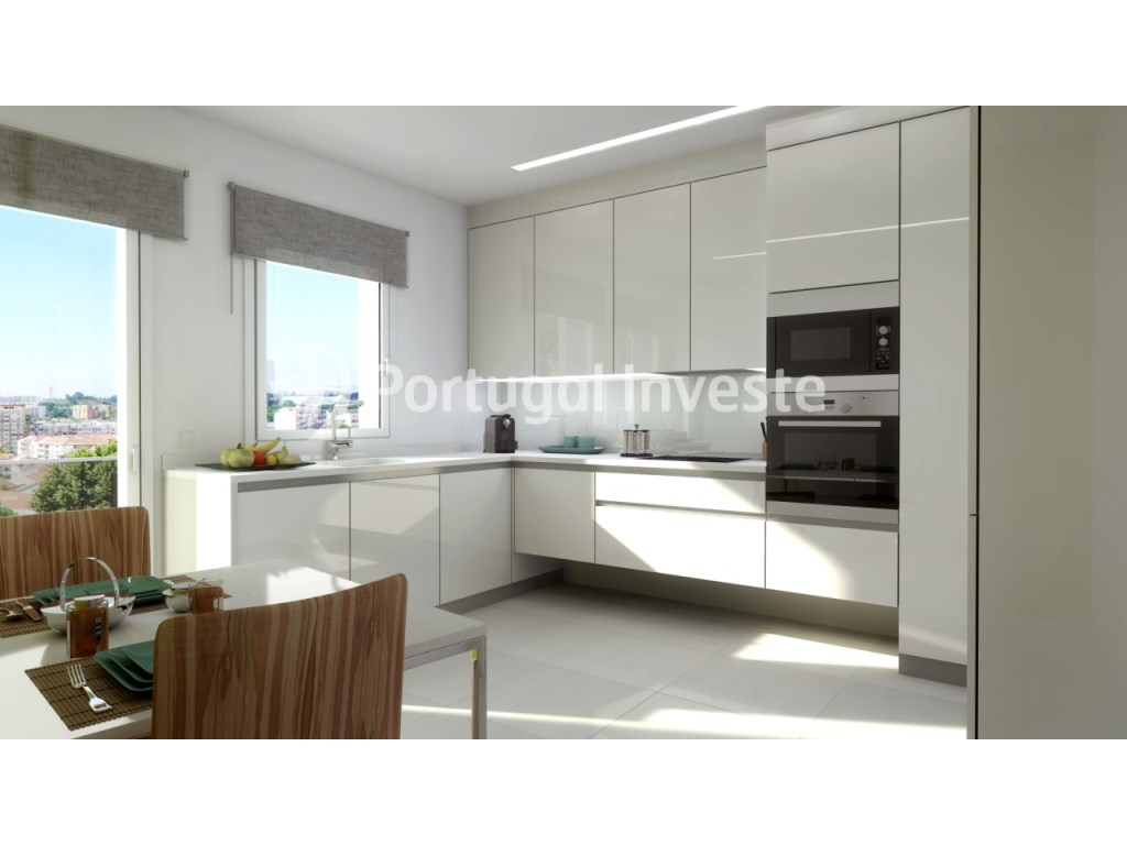 Kitchen - For sale 3 bedrooms apartment, new, box, Liberty Atrium Residence, 10 minutes from Lisbon downtown - Portugal Investe