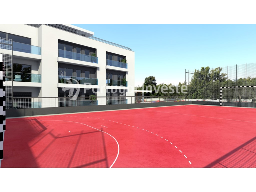 Playing field - For sale 2 bedrooms apartment, new, box, Liberty Atrium Residence, 10 minutes from Lisbon downtown - Portugal Investe