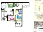 Planta do apartamento T2 Garden Hill%24/24