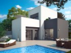New Villa - facade and pool%1/6
