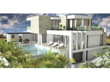 Contemporary architecture Villa under construction for sale