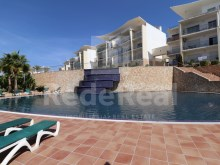 For sale 1 bedroom apartment in a gated community with excellent sea view in Albufeira