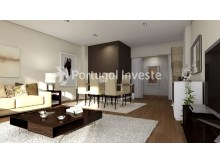 Living room - For sale 3 bedrooms apartment, new, box, Liberty Atrium Residence, 10 minutes from Lisbon downtown - Portugal Investe%1/17