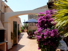 Luxury villa for sale in Santa Margalida 9 - Kitchen terrace looking west.%9/66