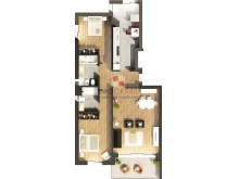 Blueprints of the 3 bedroom apartment in a private condominium near the centre of Funchal%2/6