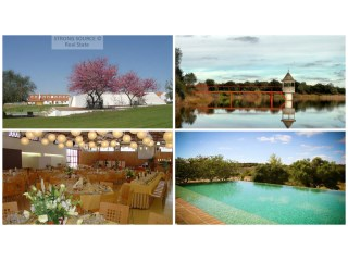 For sale fantastic property with 452 ha (4520000 m2), about 100 km from Lisbon (50 minutes), with access by motorway, with main house with 12 rooms with private bathroom, 7 independent houses with 3 bedrooms each, Swimming pool for adults and children, tennis court, all prepared for tourist exploration and events, 2 dams and own water from springs, stream with water all year round, access to large common dam, Agricultural equipment, cork oaks and holm oaks, pastures, olive grove and good quality land with irrigation capacity.
