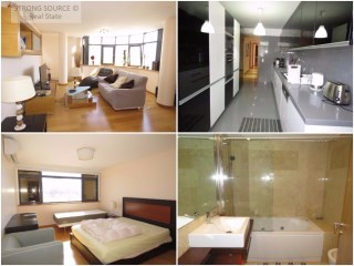 For rent Luxury apartment, fully furnished and equipped in Lisbon, Avenidas Novas, with 2 parking spaces and a storage room, next to public transport and the metro and train station.