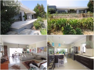 Excellent modern villa with garden, garden, garage for 2 cars and annexes, with 267 m2 of construction, 183 m2 of the main house and 1698 m2 of land.