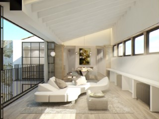 San Feliu historic Mallorcan palace. Penthouse 157m2 on floor + private terrace 29m2 top floor. The idea behind this project is to transcend architectural gems and infuse Scandinavian knowledge into design and innovation to create exceptional homes. |