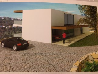 Plot with approved project for a modern villa with sea views near Loulé. RP323P |