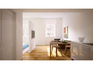 Sale of apartments with total area of 41, 77m2, in the Chiado. |  | 1WC