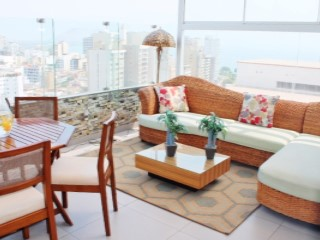 Rental Department furnished overlooking the sea in Miraflores | 2 Bedrooms | 2WC