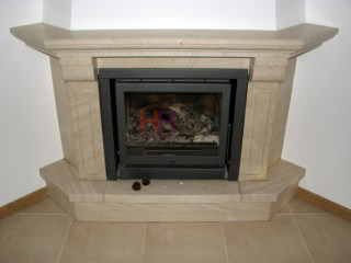 Fireplace with wood burning stove%8/44