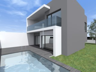 Detached house, contemporary architecture, V4 with a chance to Exchange-Ranches-Charneca de Caparica | 4 Bedrooms | 3WC