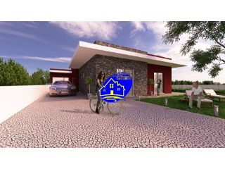 Detached house Bungalow, modern lines inserted V3 in 330m2 lot, possibility to change some of the details of the project as well as choice of materials.