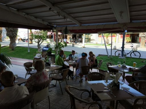 transferred bar cafeteria in the center of Los Cristianos |