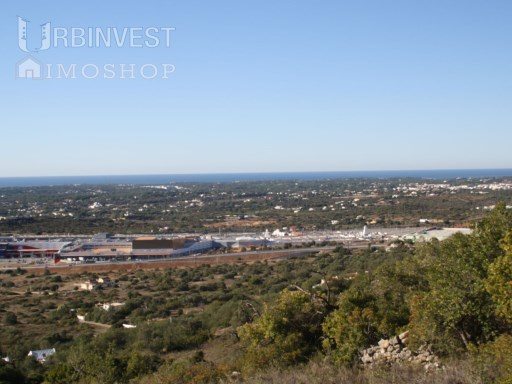 Plot of land with approved project for 2 villas, magnificent sea view in Santa Barbara Nexe, Algarve |