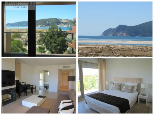 For sale-Fantastic 2 bedroom apartment, fully furnished and equipped, with 1 suite and 1 room, 124 m2, view of the sea and the beach in Tróia Peninsula, at 5-minute walk from the beach, the marina, the shopping area and the casino, with tennis and Golf and an extension of the beach, with white sand and clear waters of more than 40 km.