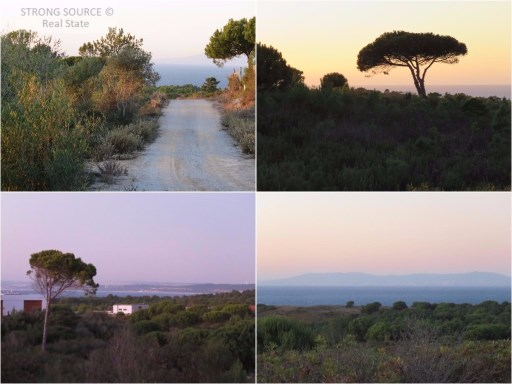 For sale land with 378182,00 m2 (37,8 ha), with sea view, between Azóia and Aldeia do Meco, total construction allowed 1890 m2 + basement (ground floor to one of the fronts, overlooking the sea).