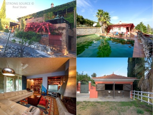 For sale fantastic property, located in the Natural Park of Arrábida, with 10.8 ha (108.600,00 m2) with main house, 2 apartments, 2 warehouses, horse boxes, riding stables, gardens and pool, excellent quality water mine , water hole, excellent plot of land for orchards or vineyards, with panoramic views, five minutes from the city center of Setúbal, 10 minutes from the beaches, 30 minutes from Lisbon and the international airport.