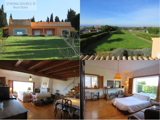 Sells fantastic house with panoramic sea view, located in Azóia / Sesimbra, with 186 m2, garden and orchard with fruit trees and excellent land, with 5375 m2. | 2 Bedrooms | 3WC