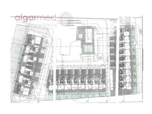 ALGARVE - Albufeira - Urban plot for sale, with a project for 24 apartments, in Ferreiras |