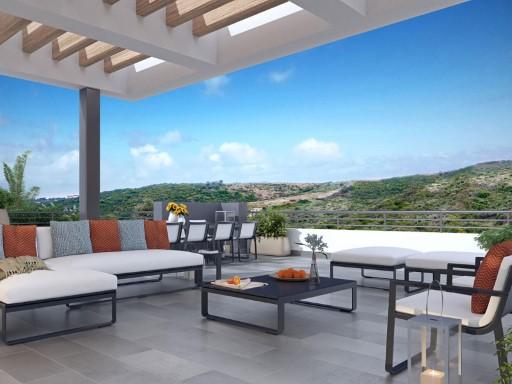 Aticos De 3 Habitaciones Con Terraza Y Piscina Dentro Del