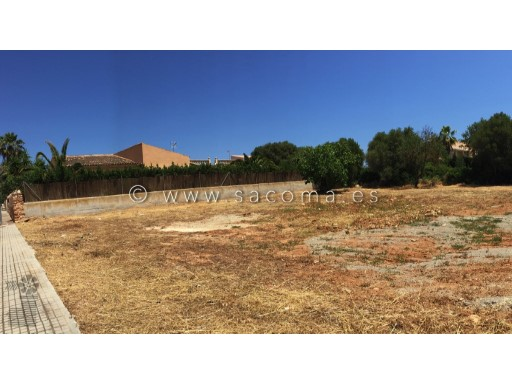 Mallorca, sa coma, plot for construction of detached house |