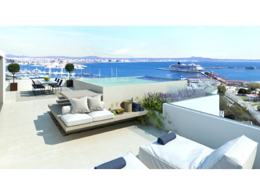 La Bonanova Penthouse 175 m2 + 75m2 terrace with private pool. › Palma de Mallorca