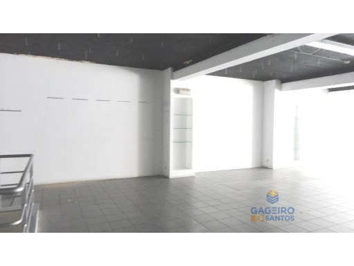 Commercial space at the center of Caldas da Rainha. |