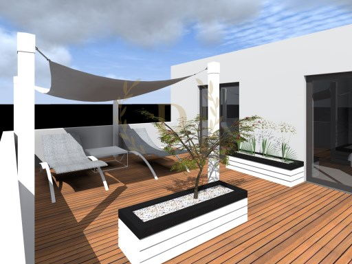 New T2 under construction to debut with terrace and 500 meters from the beach | 2 Bedrooms | 2WC