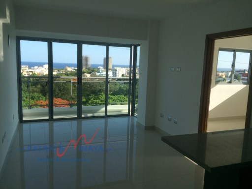 PentHouse for rent with sea and city view,, Gazcue, Santo Domingo. | 1 Bedroom | 1WC