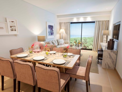 Luxury apartment in sea front and near the spectacular Algarvean coastline and next to the golf course. | 2 Bedrooms | 2WC