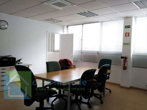With open Office space + 1 meeting room + 1 storage room (interior) + 1 small office bathroom, balcony, air conditioning,  |