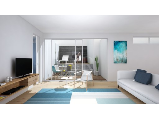 2-BEDROOM APARTMENT IN PROJECT, WITH PATIO, NEAR THE PANTEÃO NACIONAL, LISBON | 1 Bedroom + 1 Interior Bedroom | 2WC