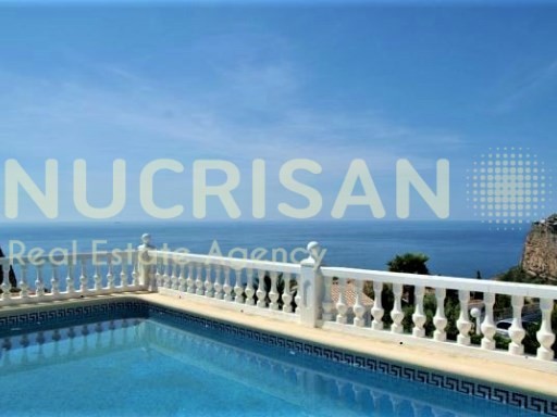 Mediterranean style villa overlooking the sea in Benitachell Alicante Costa Blanca 