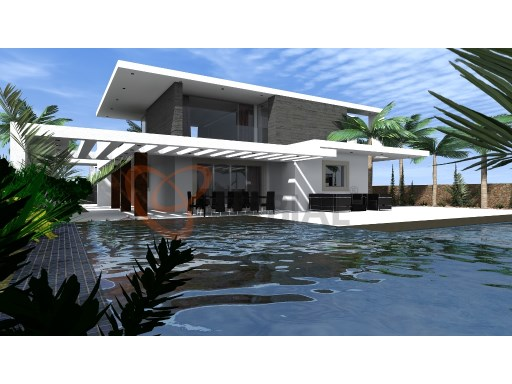 Modern villa for sale with sea and golf in Albufeira Algarve Portugal | 4 Bedrooms | 4WC