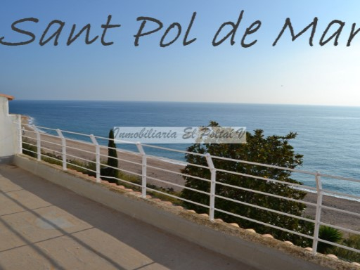 Sale Casa Sant Pol de Mar semi-detached house type Ibiza located in a very quiet area and in front of the sea. | 4 Bedrooms | 3WC