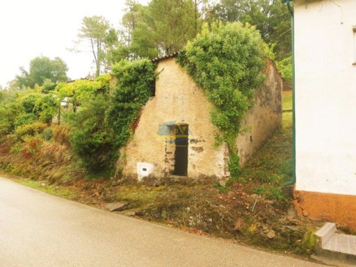Detached stone cottage site by a quiet country lane near the village of Alge in the concelho of Figueiró dos Vinhos. |