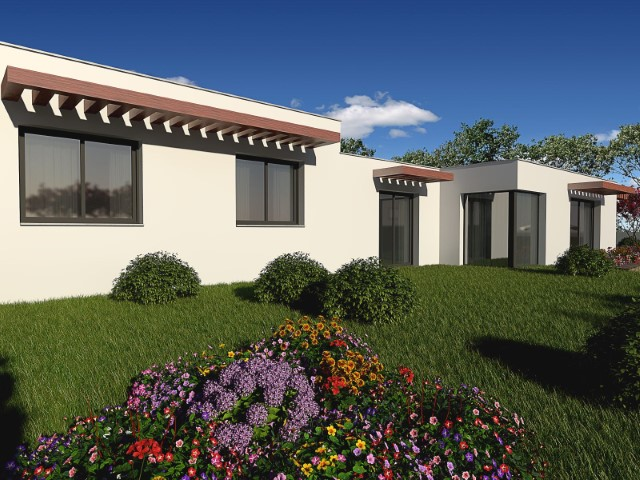 Contemporary townhouse T3, in field area, with good construction and 10 minutes from Caldas da Rainha.