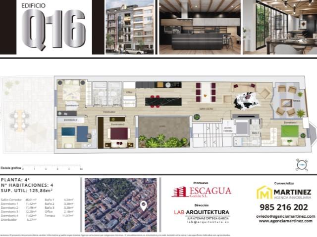 PLANTA CUARTA - EDIFICIO \'Q16\' - AGENCIA INMOBILIARIA MARTINEZ - P-2911