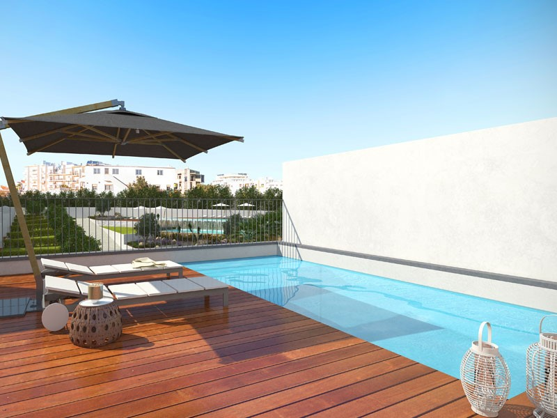 Piscine privée sur le toit-Albufeira Green Villas