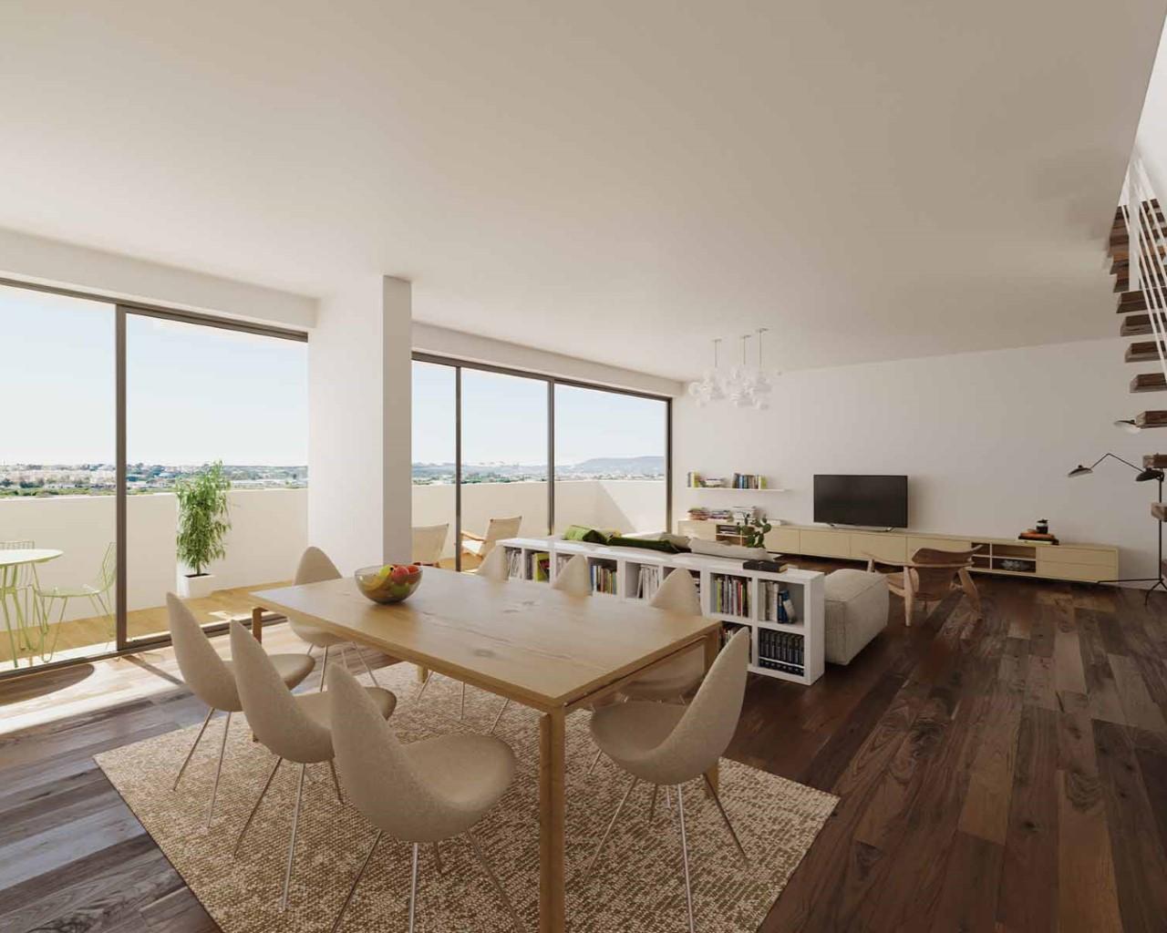 Living-room - option  walnut wood