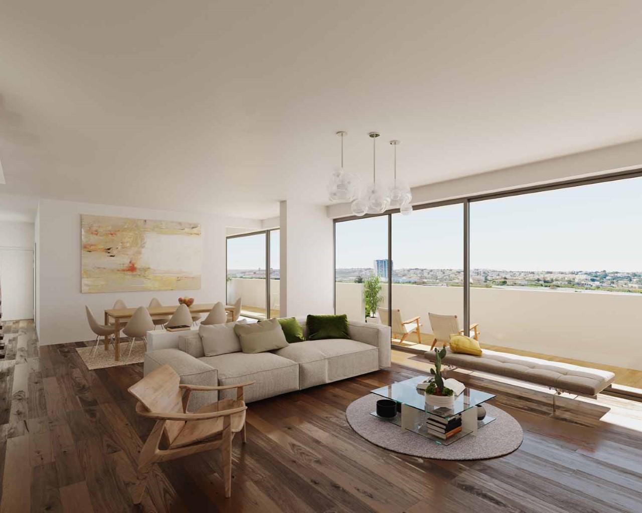 Living room - option walnit wood