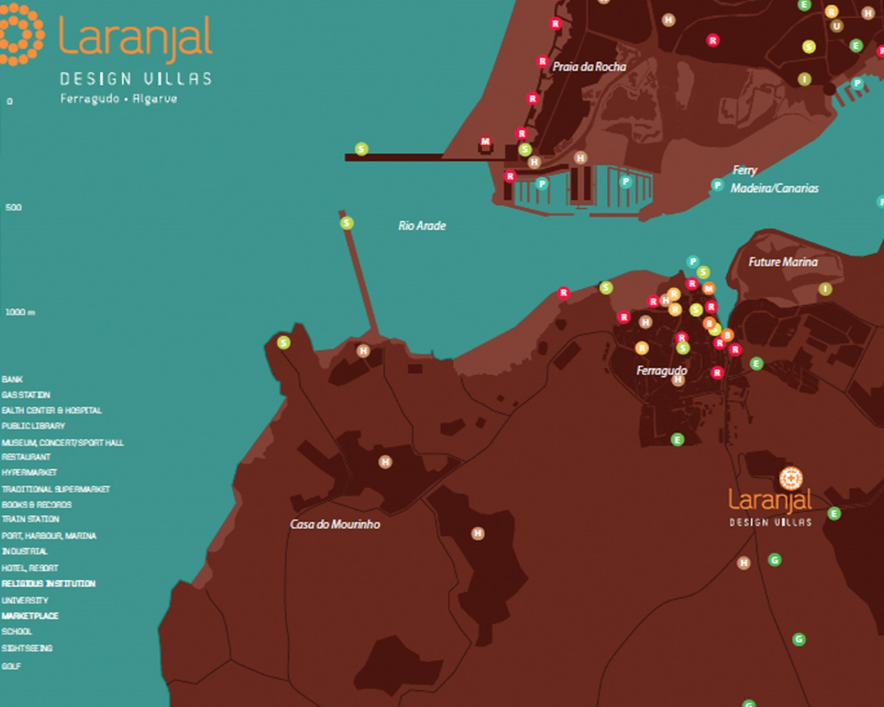 Laranjal Design Villas's Location